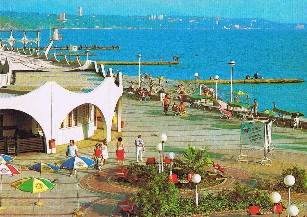 Пляж туркомплекса Дагомыс
