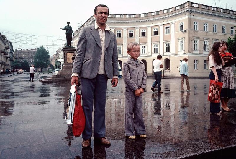 Одесса в дождливый день
