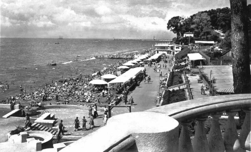 Вид на центральный пляж
