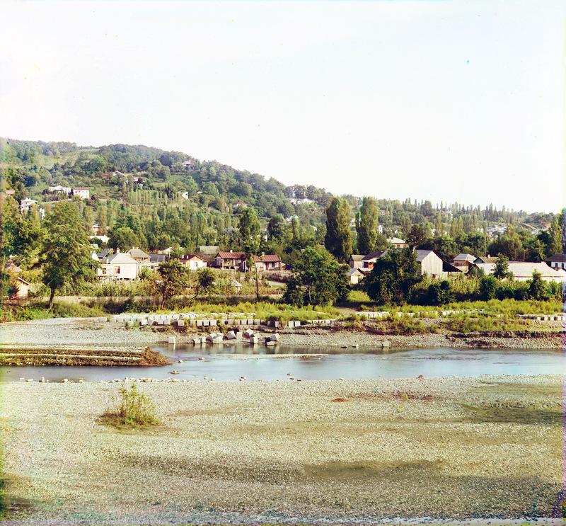 Сочи. Вид с запада. Река Сочи