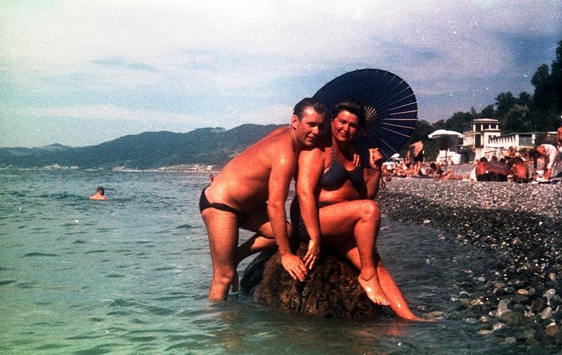 Ну и, конечно, сочинский пляж (1956)