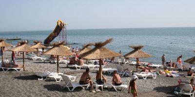 Городской пляж Огонек