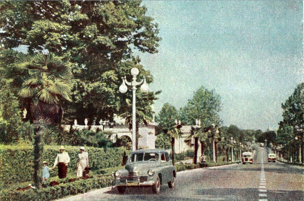 Главный российский курорт 60 лет назад. Фото Сочи в цвете