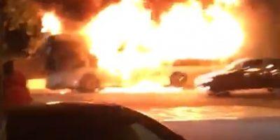автобус горит в сочи